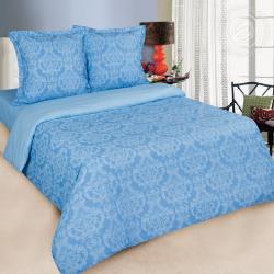"""Купить постельное белье поплин гладкокрашеный """"Византия голубая"""" в Волгограде"""