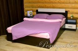 Купить лилово-розовое трикотажное постельное белье